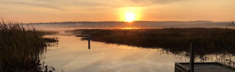 Messalonskee sunrise